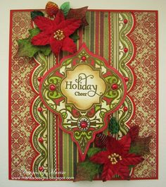 10/22/12.  Designs by Marisa: JustRite Papercraft and Petaloo Christmas Inspiration - Holiday Cheer Card