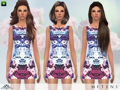 Eau De Rose dress by Metens at TSR via Sims 4 Updates