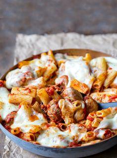 Spinach meatball pasta recipe