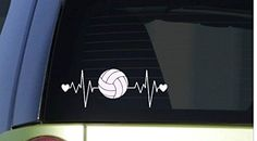 "Volleyball heartbeat lifeline *I263* 8"" wide Sticker deca... https://www.amazon.com/dp/B01605YRKC/ref=cm_sw_r_pi_dp_x_zK4MybS7M3PG1"
