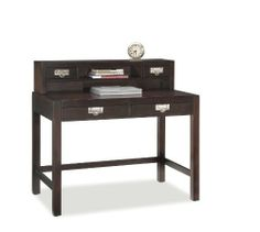 City Chic Student Desk and Hutch by Home Styles. $497.04. Material Wood;Veneer;Poplar;. Espresso. Wire management opening. Color Brown. Assembly Required Assembly Required. Home Styles City Chic Student Desk & Hutch is constructed of Poplar Solids and Birch veneers in a rich multi step Espresso finish with brushed bickel hardware. Desk has two easy glide drawers with plenty of storage room. Desk Size: 42 x 24 x 30? high. City Chic Hutch features two drawers, open storage a...