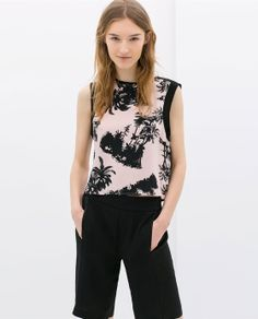 Image 1 of PRINTED SILK TOP from Zara