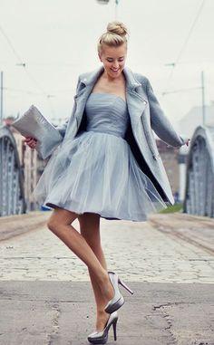 Sukienkowo.pl - RozkloszowanatiulowagorsetowasukienkaBABYBLUELILLY
