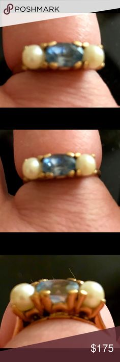 14k Antique Tanzanite & Pearl Ring Unusual, detailed, antique 14k tanzanite and pearl ring in 14k yellow gold. Purchased in New Orleans. Pictures don't do it justice! Tanzanite are a light purple. Size 8-81/2. Just beautiful!!!🌸💜 Jewelry Rings