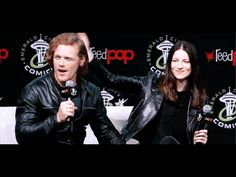 Outlander Sam and Cait at the Seattle ECCC panel