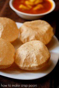 crisp poori recipe, how to make crisp soft pooris | poori recipes