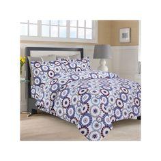 Luxury 3-pc. Flannel Duvet Cover Set, Blue