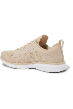 Athletic Propulsion Labs - Techloom Pro Cashmere-blend Mesh Sneakers - Beige - US9.5