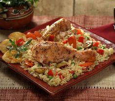 Κοτόπουλο με ρύζι και λαχανικά Cookbook Recipes, Cooking Recipes, Rice Dishes, Greek Recipes, Paella, Food Processor Recipes, Food Porn, Yummy Food, Chicken