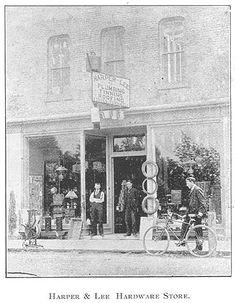 Harper & Lee Hardware Store, Goderich, Ontario c.1897 #Goderich #RediscoverGoderich #VintageGoderich