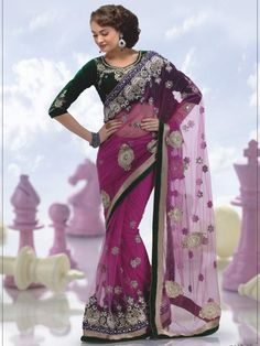 This is the most beautiful saree to bring out the diva in you. This amazing pink and color saree crafted in nett is a perfect wear for wedding parties. The whole body of the saree designed with resham, stone, and beads. Bottom of the saree is beautifully design with fancy work and has gorgeous border. (Slight variation in color is possible)