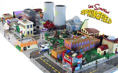 Springfield ricostruita con i LEGO
