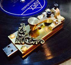Steampunk telegraph key, USB (4 GB) # 14