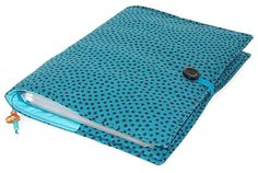 Ring Binder File Cover DOTTY TEAL by WhimsyWooDesigns on Etsy