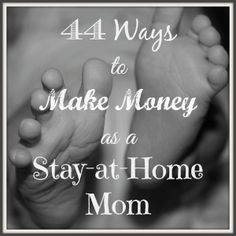 Being a stay at home (SAHM) is quite an endeavor - its a full time job but you want an income too. Here are 44 ways to make money as a stay at home mom Money Making Ideas Ways To Save Money, Money Tips, Money Saving Tips, How To Make Money, Earn Money From Home, Make Money Online, Home Based Business, Online Business, Business Ideas