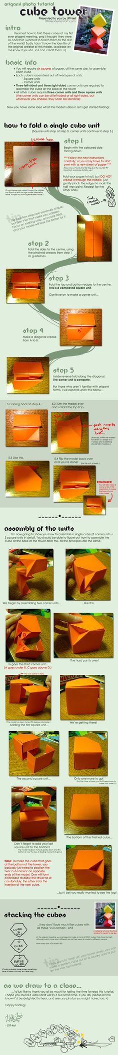 Instructions for Origami Cube Tower.  Cool.  As far as I can tell, origamiinstruction.com does not exist.