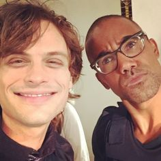 Two Blind Mice!!!! I can see Russia from here.. With Matthew's Glasses on... He sure is pretty but Blind as a Bat!! - Shemar Moore's FB