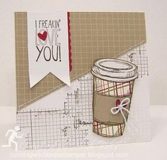 MIX37 Ode to Coffee hlw966 at Splitcoaststampers love using drywall tape--what a great idea here