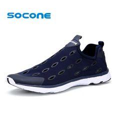 quality design 595a1 4890a 2016 del verano del estilo Socone luz hombres zapatos corrientes  respirables zapatos deportivos de malla forman a mujeres resbal.