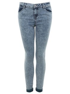 Green Snow Wash Jean - Jeans & Denim  - Clothing