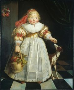 Harmen Willems Wieringa, Portrait of Ida Catharina van Paffenrode, 1634 - Leeuwarden Fries Museum