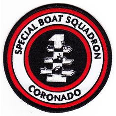 SBS 1 Special Boat Squadron One Patch  Description  SBS 1 United States Navy Special Boat Squadron One Military Patch CORONADO