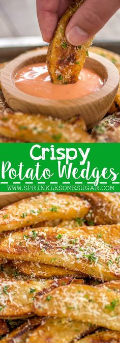 Perfectly spiced potato wedges that are perfectly crispy on the outside and tender on the inside.