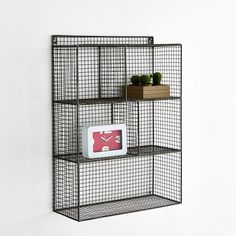Image Aréglo 5-Compartment Metal Wire Hanging Shelf Unit La Redoute Interieurs