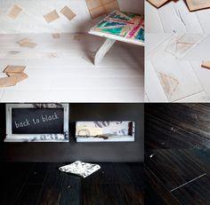 Antique Oak handmade floor black or white  www.antiqueoak.pl