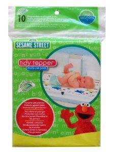 Amazon.com: Neat Solutions 10 Count Sesame Street Multi-Use Pads: Baby