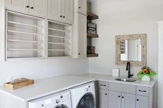 Laundry Solutions, Laundry Design, Laundry Room Organization, Kitchen Cabinets, Organize, Spaces, Home Decor, Pantry Organization, Decoration Home