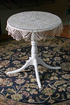 Glass Table, A Table, Dining Table, Side Table Makeover, Round Glass, Sweet Home, Projects, Decorating Ideas, Furniture