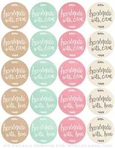 Free Printables HandDrawn labels for Handmade goods.
