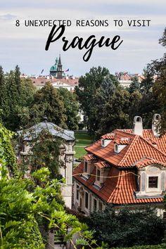 8 (unexpected) reasons to visit Prague Czechia Czech Republic Cityscape Bliss // Travel Journal Prague Travel Guide, Ways To Travel, Travel Tips, Travel Destinations, Visit Prague, Road Trip Packing, European Travel, Travel Europe, Travelling Tips