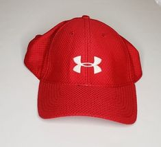 e94aedb3ce7 Under Armour Red Hat Golf Spacer Mesh White Mens Fitted large  UnderArmour  Red Hats