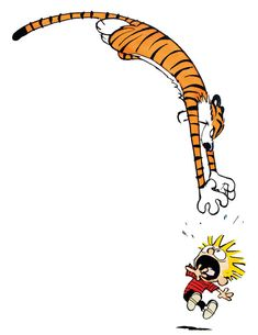 Calvin and Hobbes Sneak Attack Art Print Poster Calvin Y Hobbes, Calvin And Hobbes Tattoo, Calvin And Hobbes Quotes, Bd Comics, Funny Comics, Snoopy Charlie, Old Posters, Comic Art, Comic Books