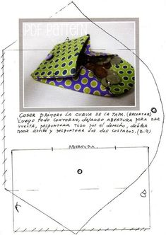 Moldes e Apostilas para Artesanato: Sewing Tutorials, Sewing Crafts, Sewing Projects, Couture Diy Pochette, Purse Patterns, Sewing Patterns, Deco Cuir, Pouch Bag, Pouches