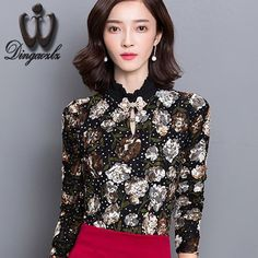 New 2015 Women Tops Fashion long sleeve Casual floral print body women lace blouse shirts blusa femininas feminine female