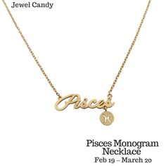 This is so awesome! Pisces Constellation Zodiac Necklace & Monogram Necklace (02/19-03/20) - As seen in Real Simple, People Magazines & more!