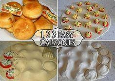 Hecho en casa fácil Calzone maravilloso DIY hecho en casa fácil Calzone