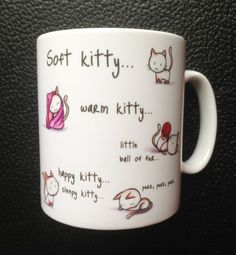 Soft Kitty Mug with Personalised Name or message by Hx5Designs, £7.99