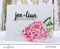Altenew Clear Stamp Sets This multi-layer stamp set will allow you to create realistic Dahlias You can use all the layers to create more in-depth