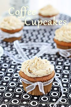 Chocolate Coffee Cupcakes with Coffee Frosting