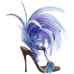 Nicholas Kirkwood for the Victoria's Secret Fashion Show. TheseFeather Sandals Were Literally Made For Angels #Shoes