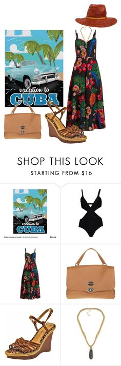"""Untitled #1085"" by takenbycy ❤ liked on Polyvore featuring Boohoo, Valentino, Zanellato, Sunville, ABS by Allen Schwartz and Billabong"