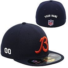 Men s New Era Chicago Bears Customized Onfield 59Fifty Football Structured Fitted  Hat Personalized Football c137a21ff