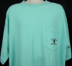 NWT Joe Marlin Casual Pullover Pocket Shirt XXL 2XL Aquamarine Short Sleeve  #JoeMarlin #BasicTee