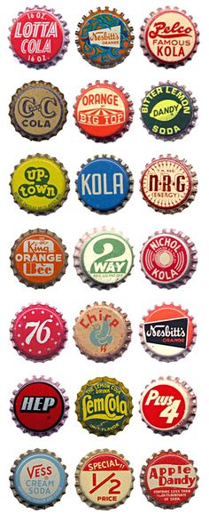 Bottle caps. I admit these were before my time. I don't remember any.