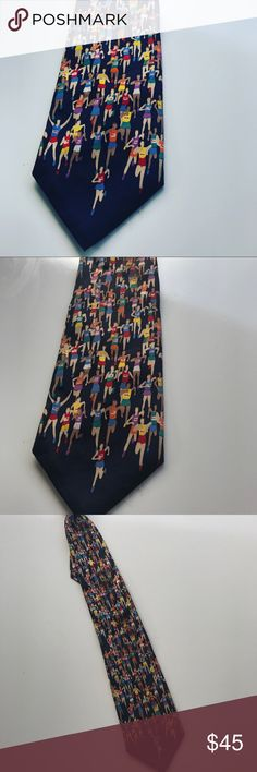 Men's Silk Marathon Tie Men's Silk Marathon Tie gently worn. Very unique for the running enthusiast! alynn neckwear Accessories Ties