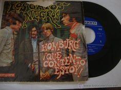 DISCO SINGLE LOS GATOS NEGROS- HOMBURG / QUE CONTENTO ESTOY / VERGARA 1967